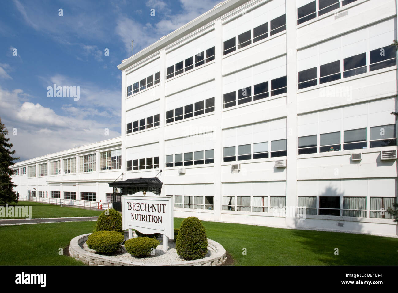 Beechnut Corporation started here Canajoharie New York State Montgomery County Mohawk Valley - Stock Image