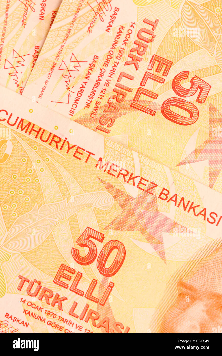 Turkey Turkısh Lıra new bank notes ıssued ın 2009 Stock Photo