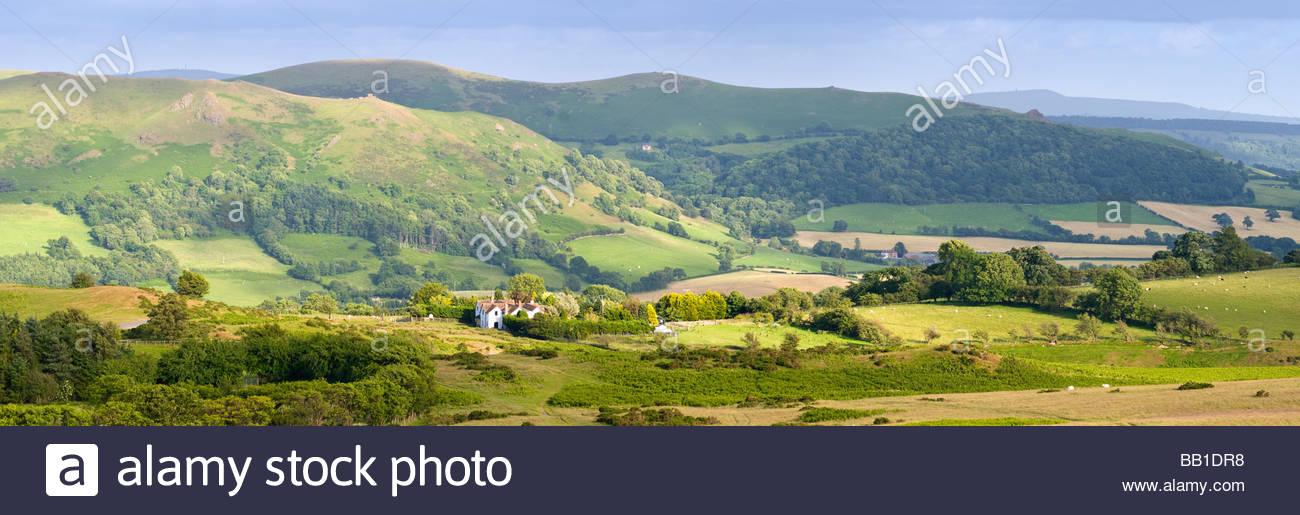 View towards Caer Caradoc from Long Mynd, Shropshire, England, UK. - Stock Image