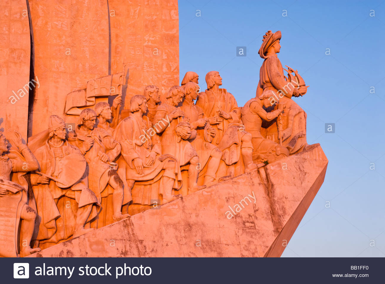 Monument to the Discoveries, Belém, Lisbon, Portugal. Stock Photo