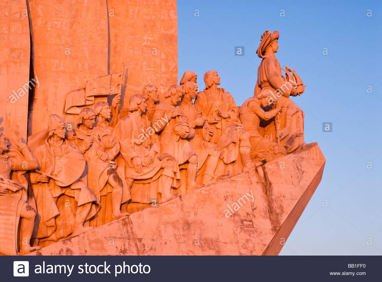 Monument to the Discoveries, Belém, Lisbon, Portugal. - Stock Image