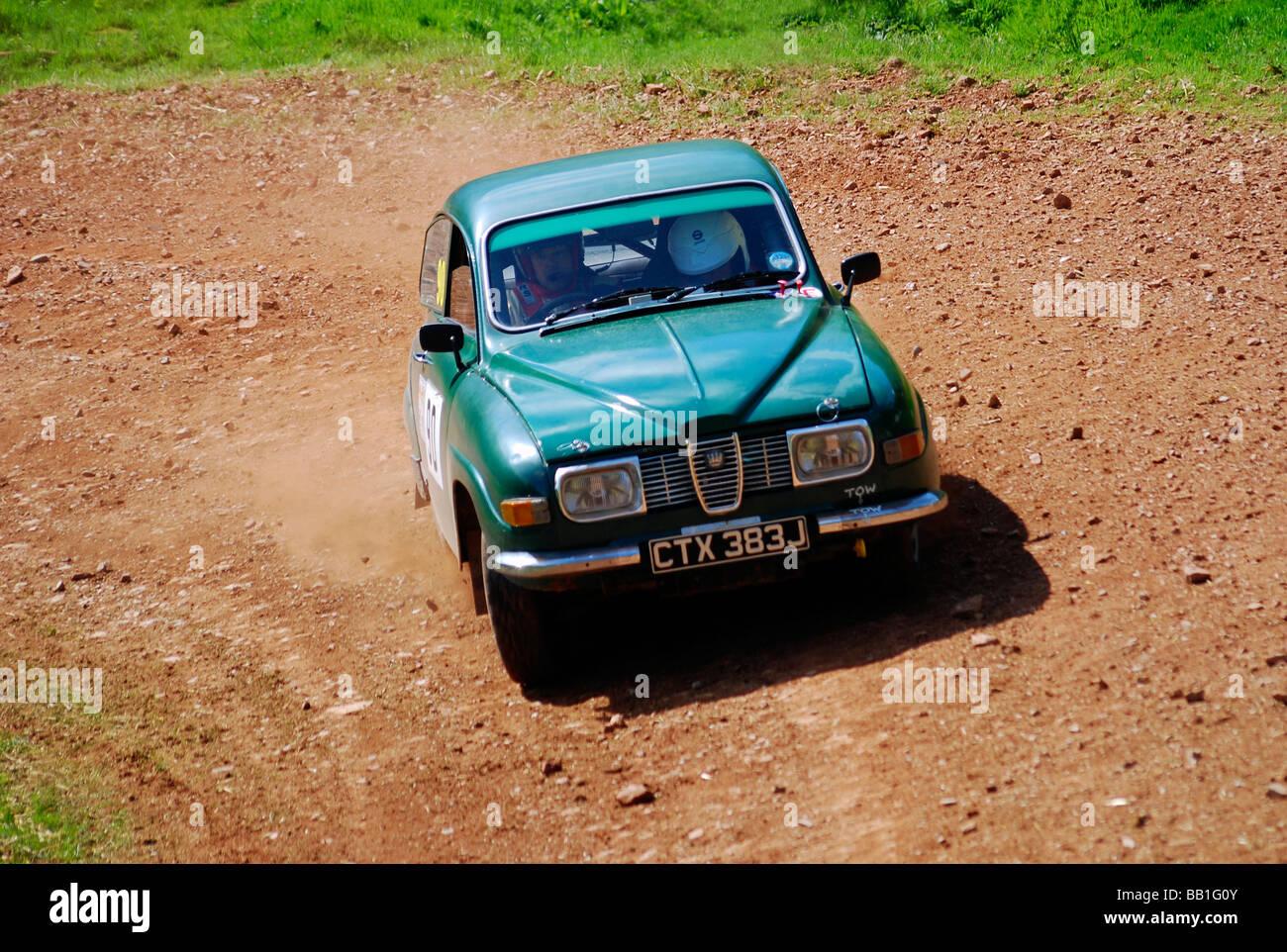 Saab V4 Rally Car - Stock Image