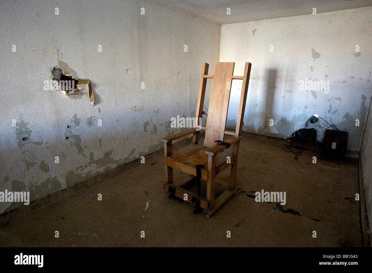 UNITED STATES-ANGOLA-Louisiana State Prison electric chair. PHOTO GERRIT DE HEUS & Electric Chair Death Stock Photos u0026 Electric Chair Death Stock ...