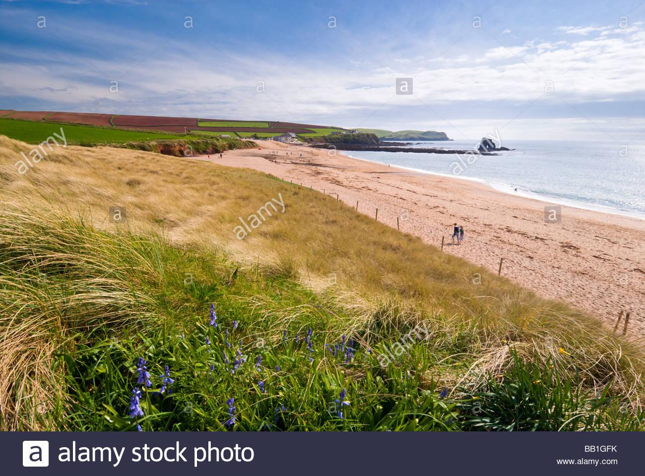 The beach at Thurlestone (South Milton Sands), South Hams, South Devon, England. - Stock Image