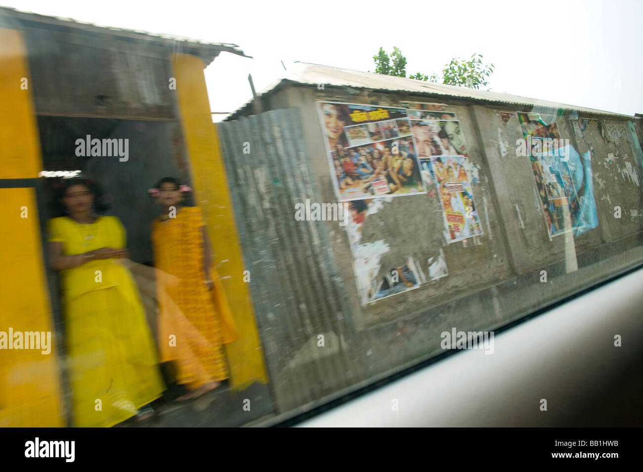 Passing by brothel in car, Tangail, Bangladesh. - Stock Image