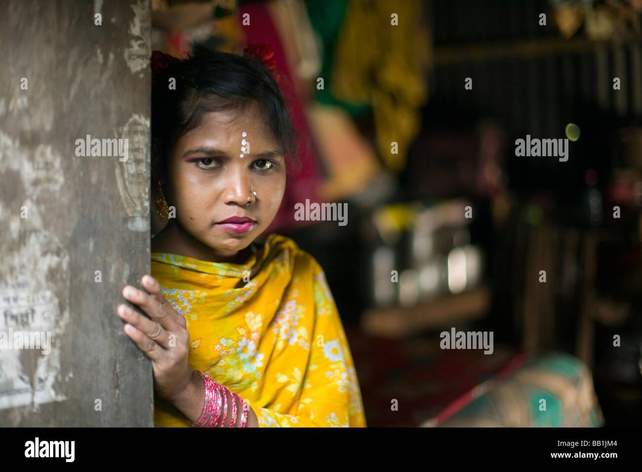 Young woman in brothel, Tangail, Bangladesh. - Stock Image