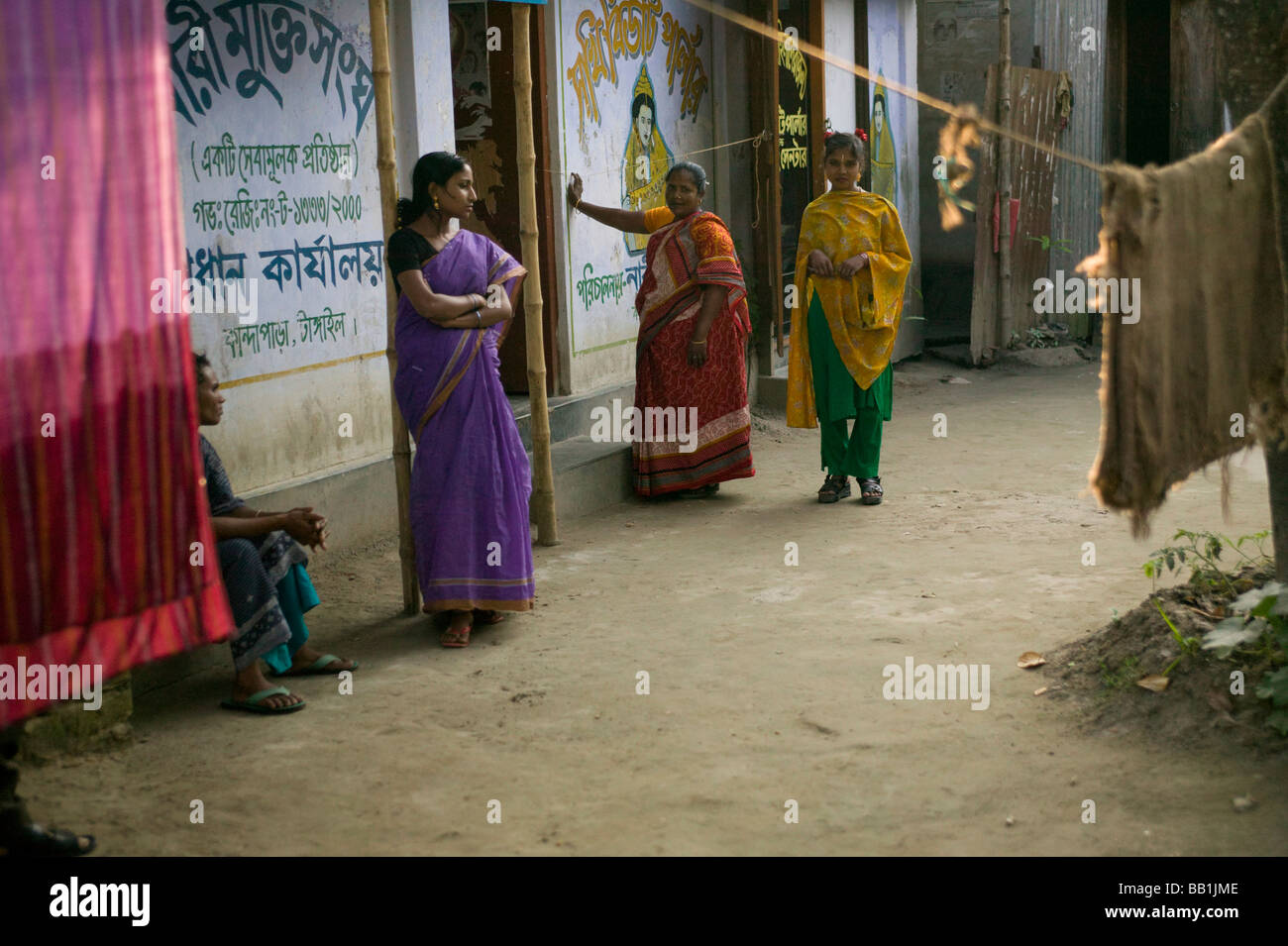 Women in brothel, Tangail, Bangladesh. - Stock Image