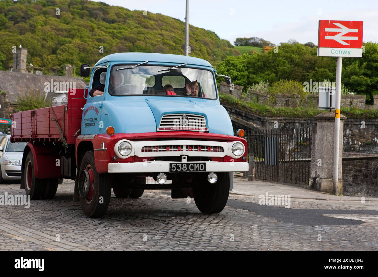 Old cars in Conwy. North Wales. Europe - Stock Image
