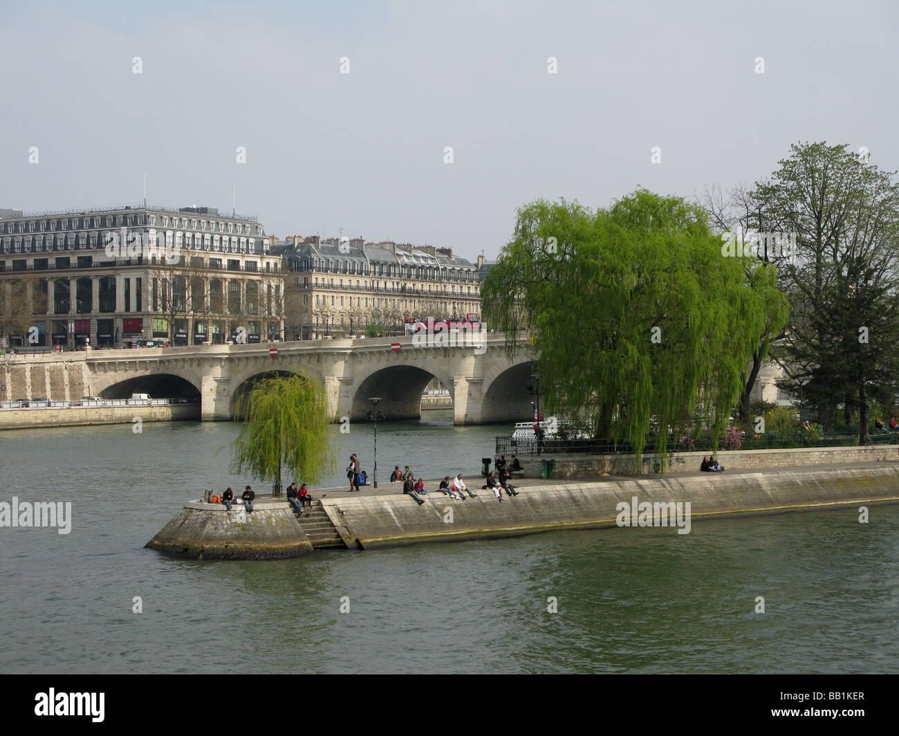 Ile St Louis Paris - Stock Image