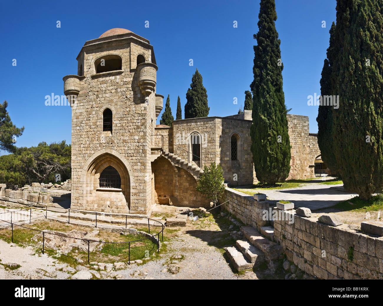 Filerimos monastery, Rhodes island, Greece - Stock Image