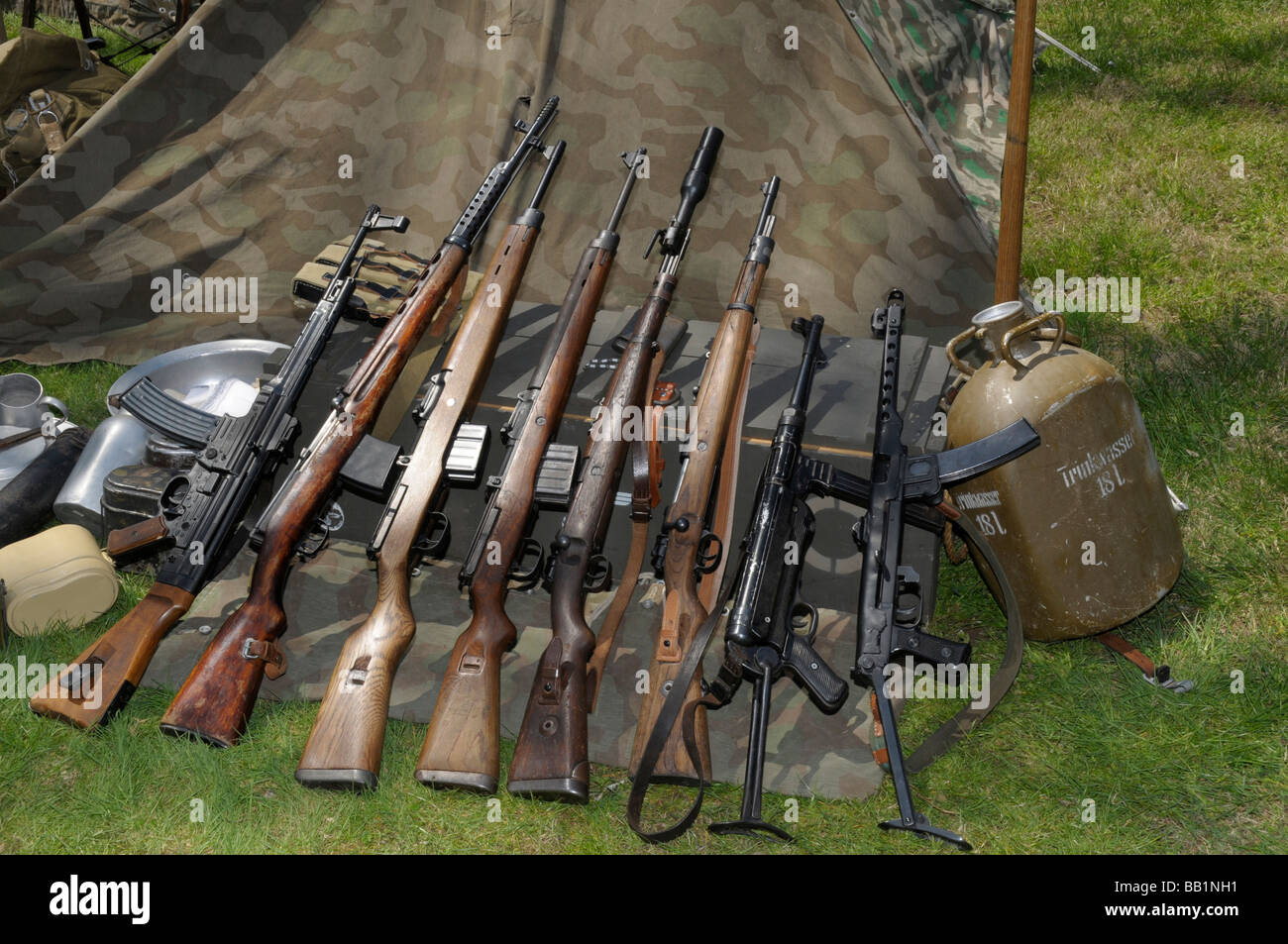 weapons used by the German army during WWII - Stock Image