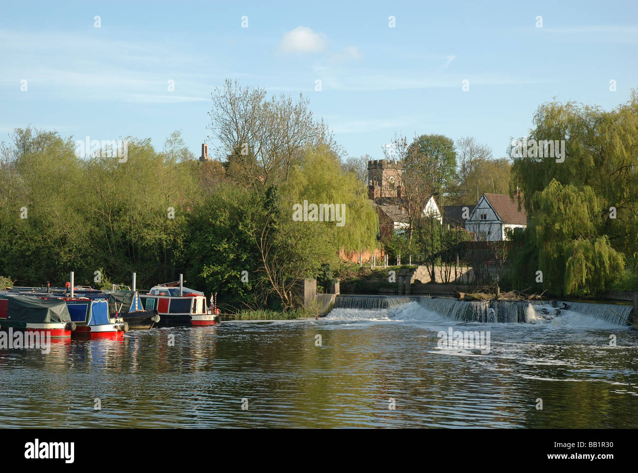 the River Soar, Mountsorrel, Leicestershire, England, UK - Stock Image