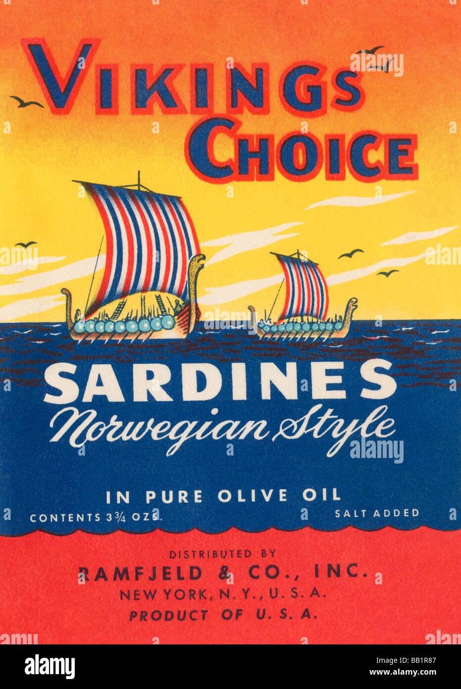 Vikings Choice Sardines - Stock Image