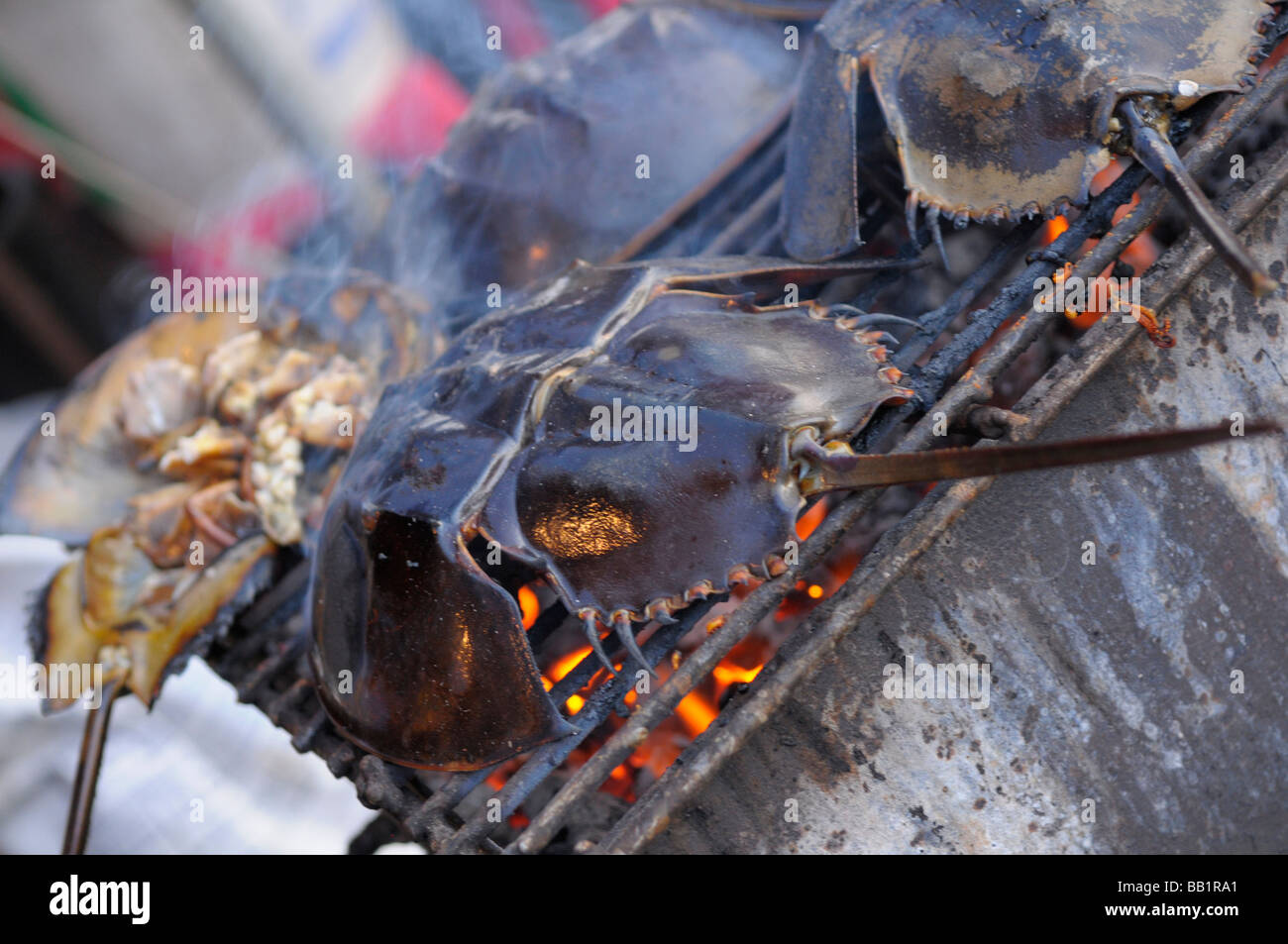bbq king crab Stock Photo - Alamy