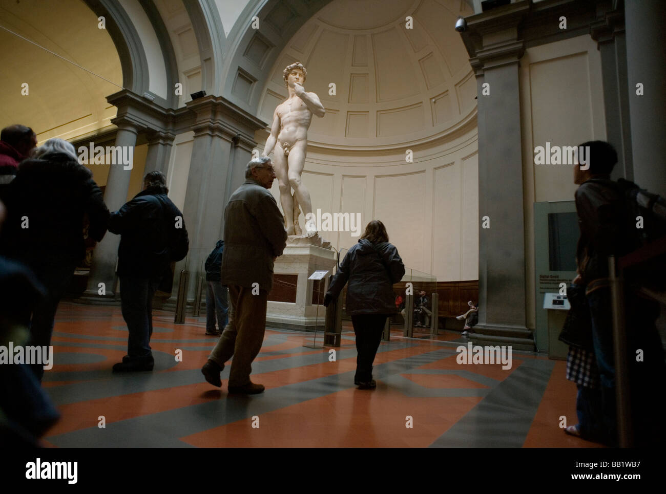 Florence Tuscany Italy The city of the Renaissance Photo shows David by Michelangelo in the Gallery of the Academy Stock Photo