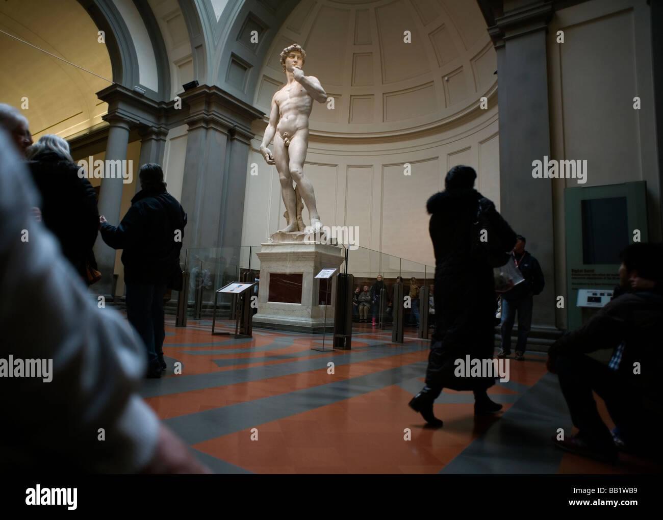 Florence Tuscany Italy The city of the Renaissance Photo shows David by Michelangelo in the Gallery of the Academy - Stock Image
