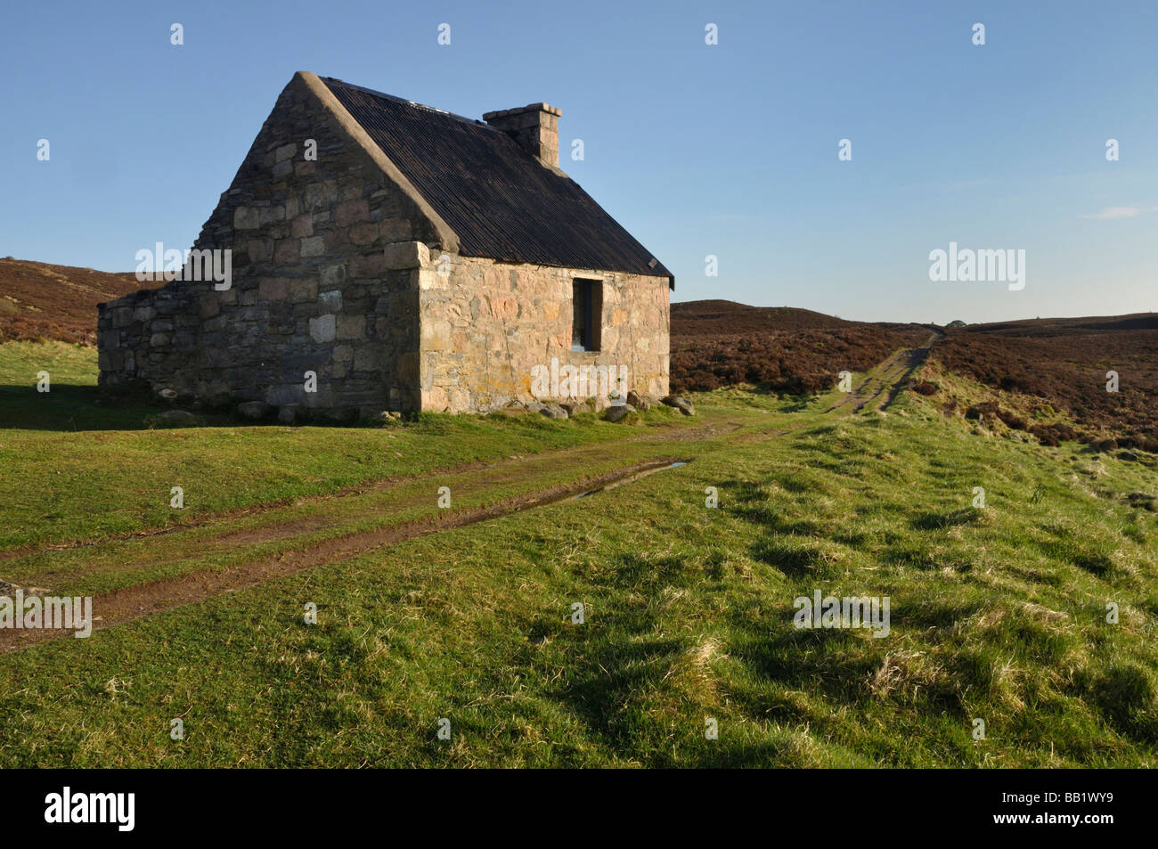 Ryvoan bothy Cairngorms Scotland - Stock Image