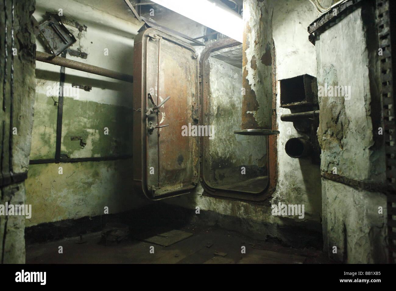 Underground Soviet military base - Stock Image
