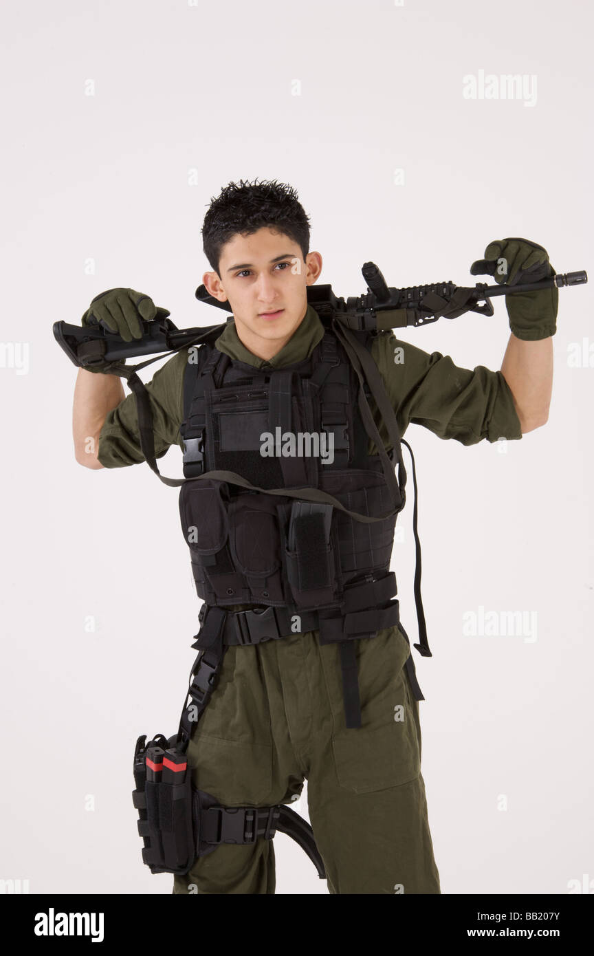 SAS soldier in casual pose - Stock Image