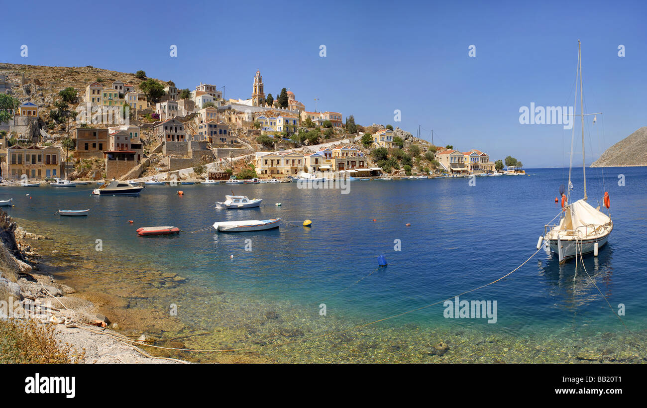 The island town of Symi Greece - Stock Image