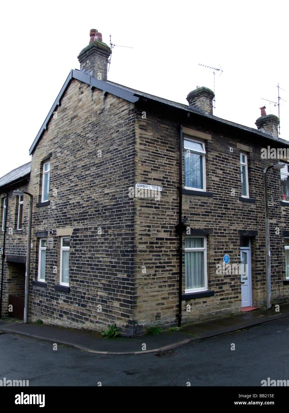 Birthplace home of poet Ted Hughes, Mytholmroyd, West Yorkshire - Stock Image
