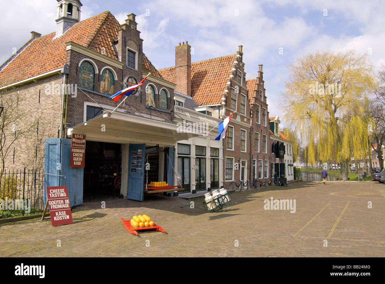 Europe, Netherlands, North Holland, Edam, cheese museum, cheese market - Stock Image