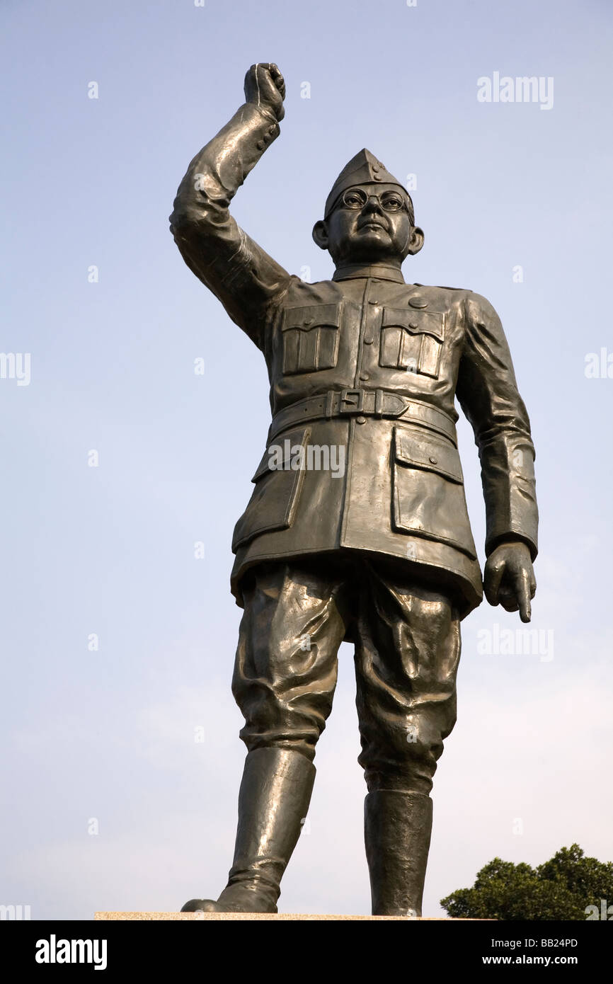 A statue of the Indian leader Subhas Chandra Bose, the Indian nationalist leader. Stock Photo