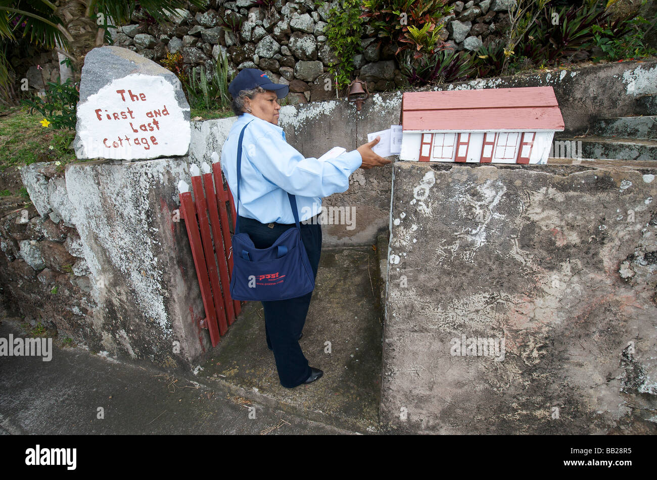 Saba Windwardside post being delivered - Stock Image