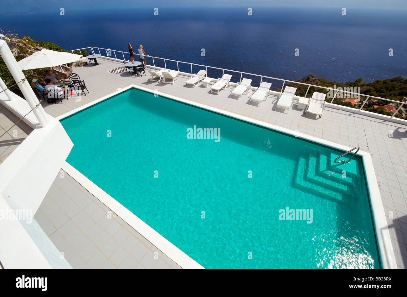 Saba swimmingpool of luxery hotel - Stock Image