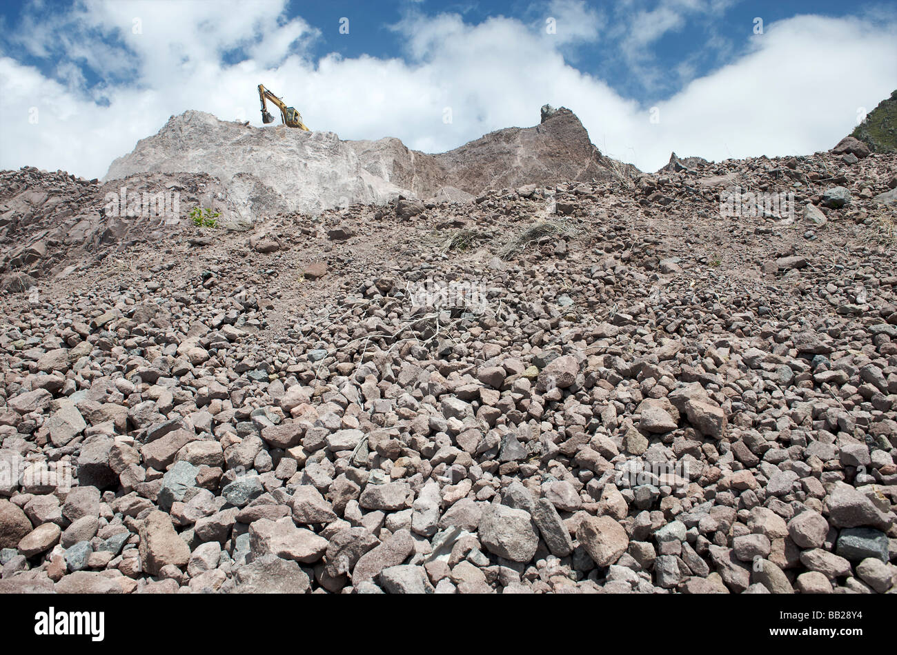 Saba stone query at Fort bay - Stock Image