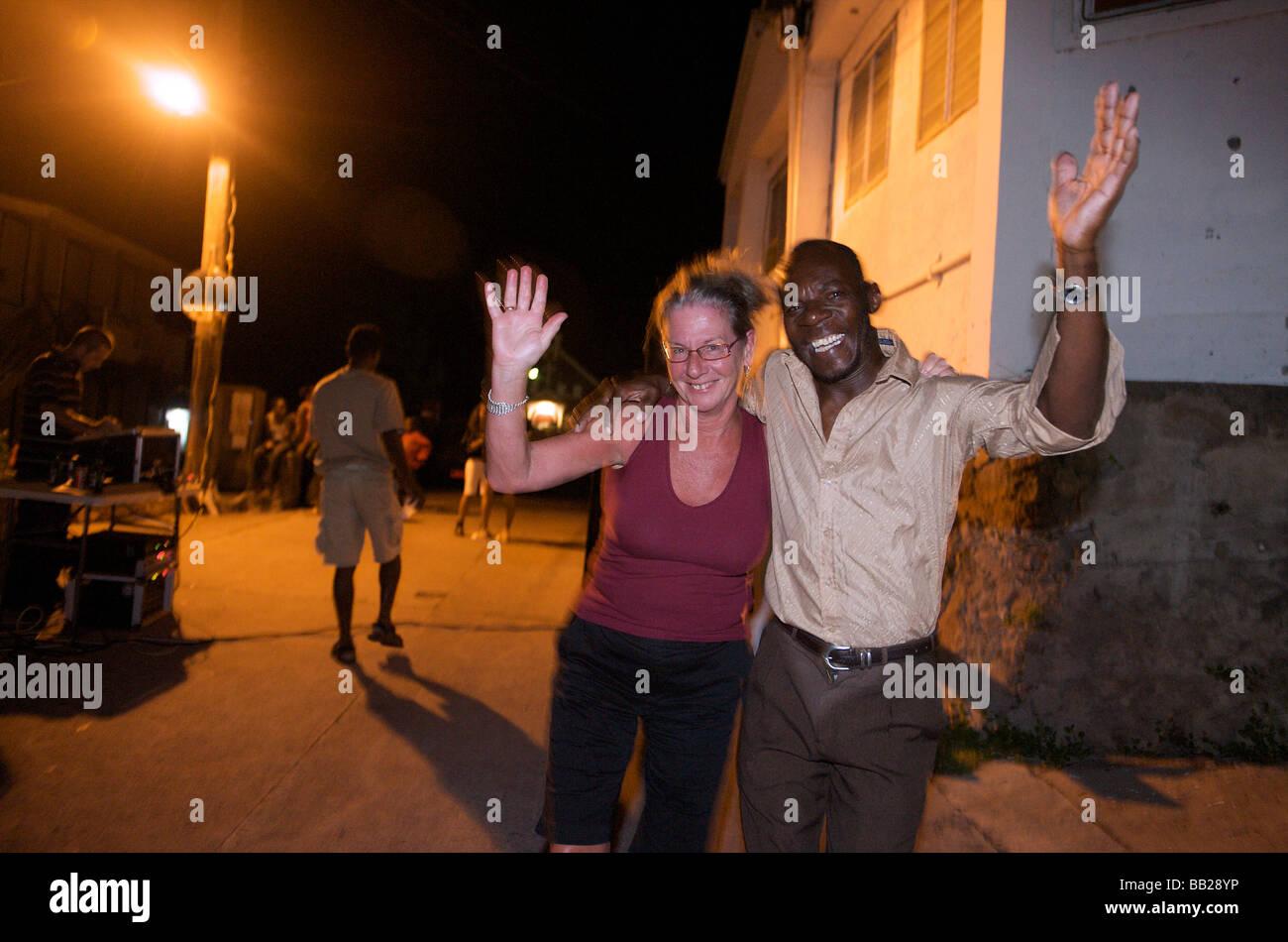 Saba the Bottom a roadblock party - Stock Image