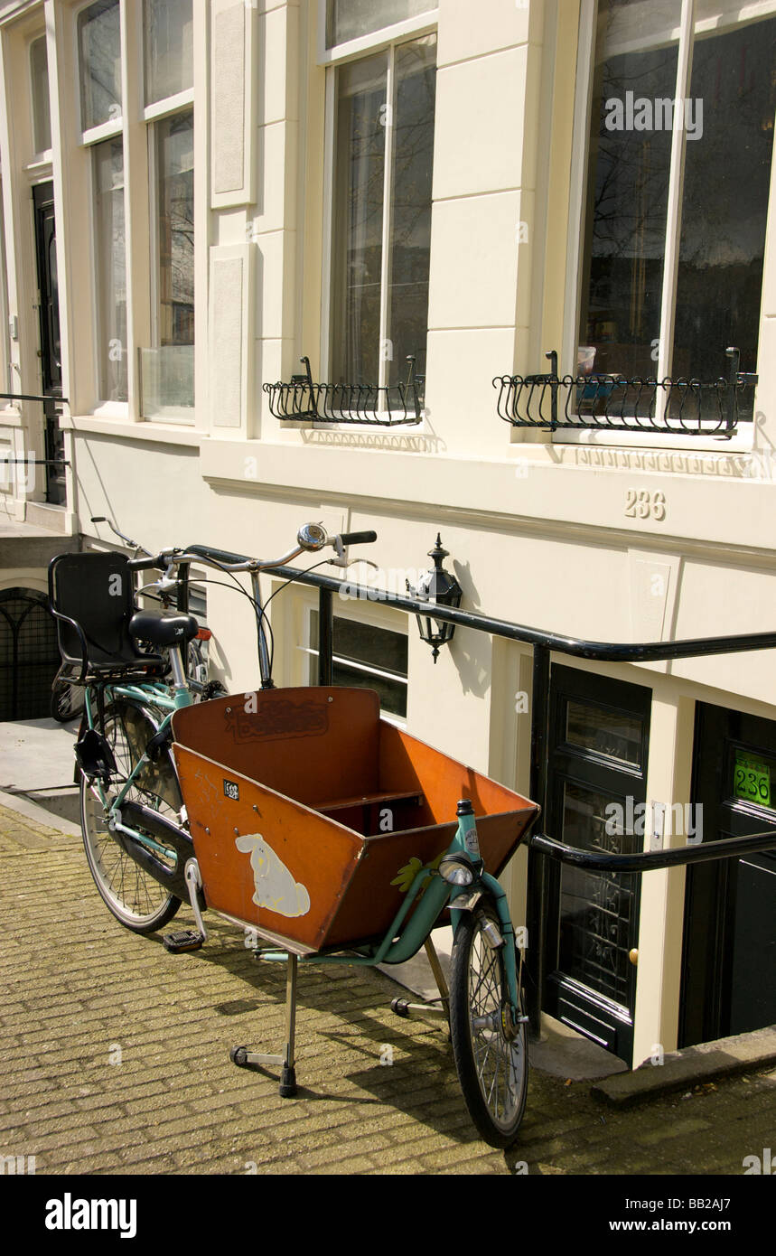 Europe Netherlands South Holland Amsterdam Bike With Wooden