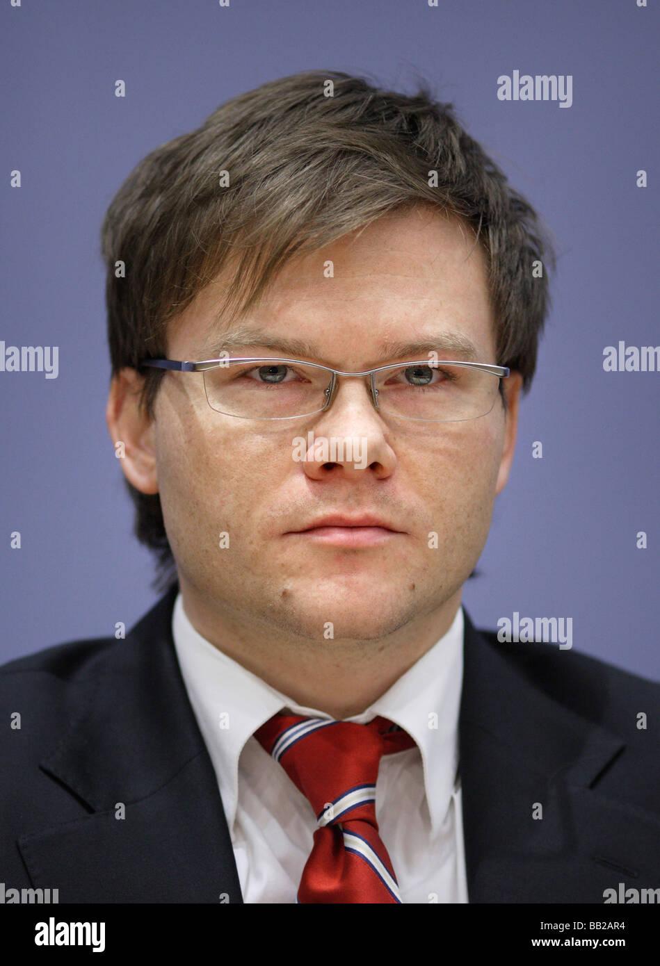 Carsten SCHNEIDER haushaltspolitischen Sprecher der SPD Bundestagsfraktion Berlin Deutschland Carsten SCHNEIDER - Stock Image