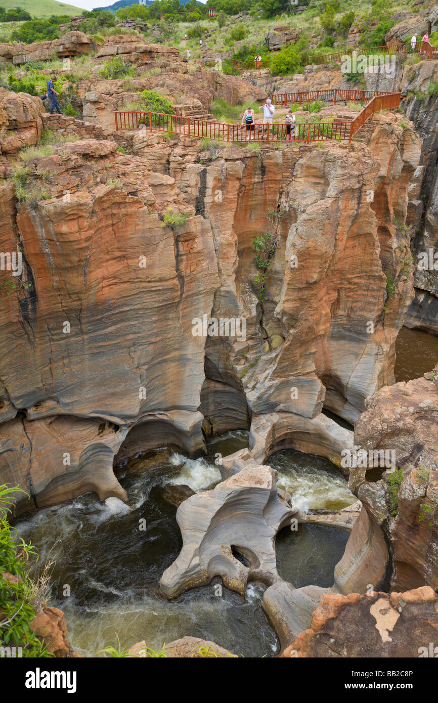 Bourkes Luck Potholes, Blyde River Canyon, Mpumalanga, 'South Africa' - Stock Image