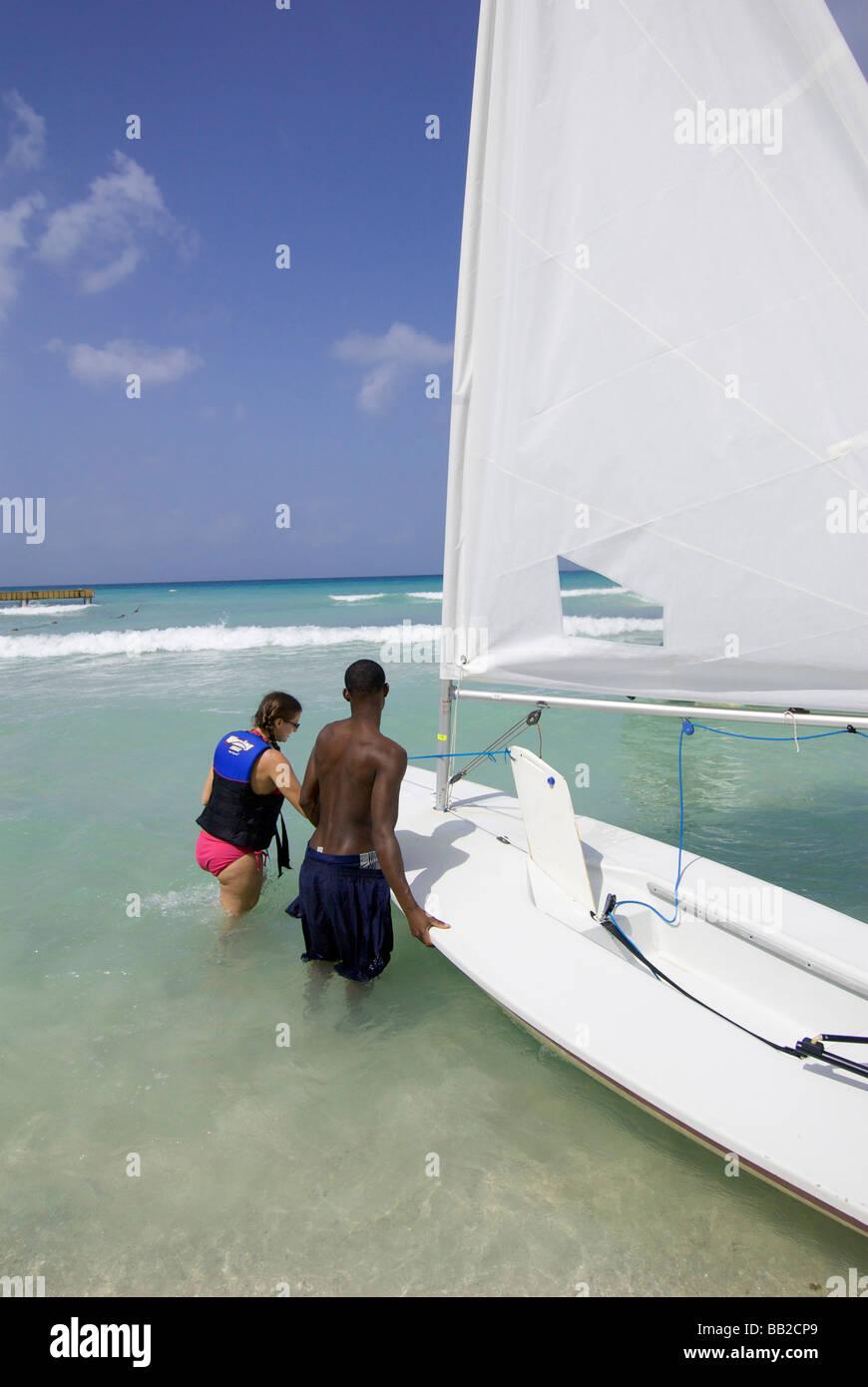 Dominican Republic, Bayahibe, Viva Wyndham Dominicus Beach. (MR) - Stock Image