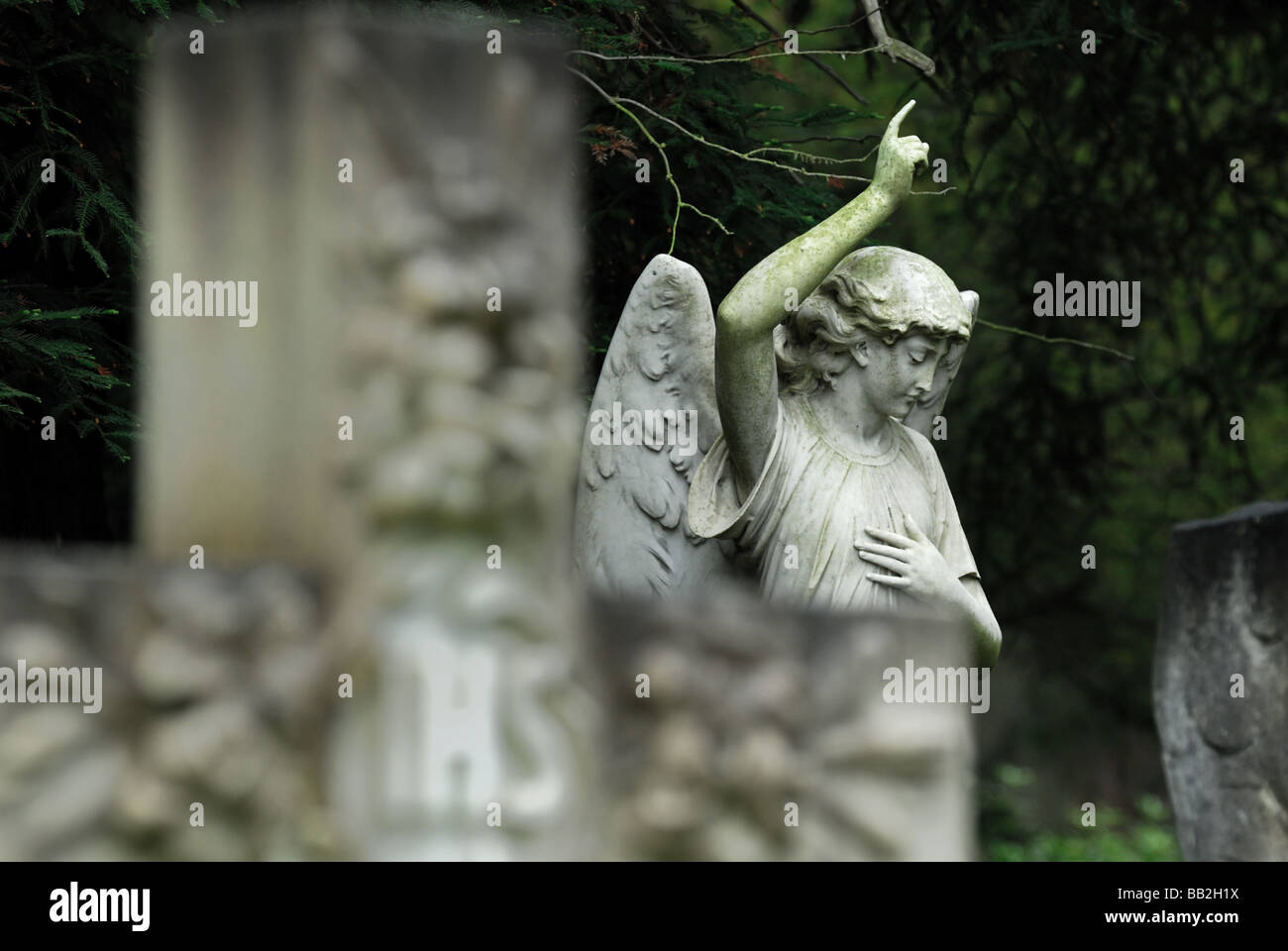 Monuments in the Victorian cemetery at Brookwood Surrey England UK Stock Photo