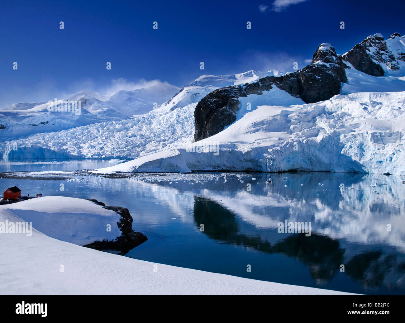 The spectacular glaciers around Paradise Bay in Antarctica - Stock Image