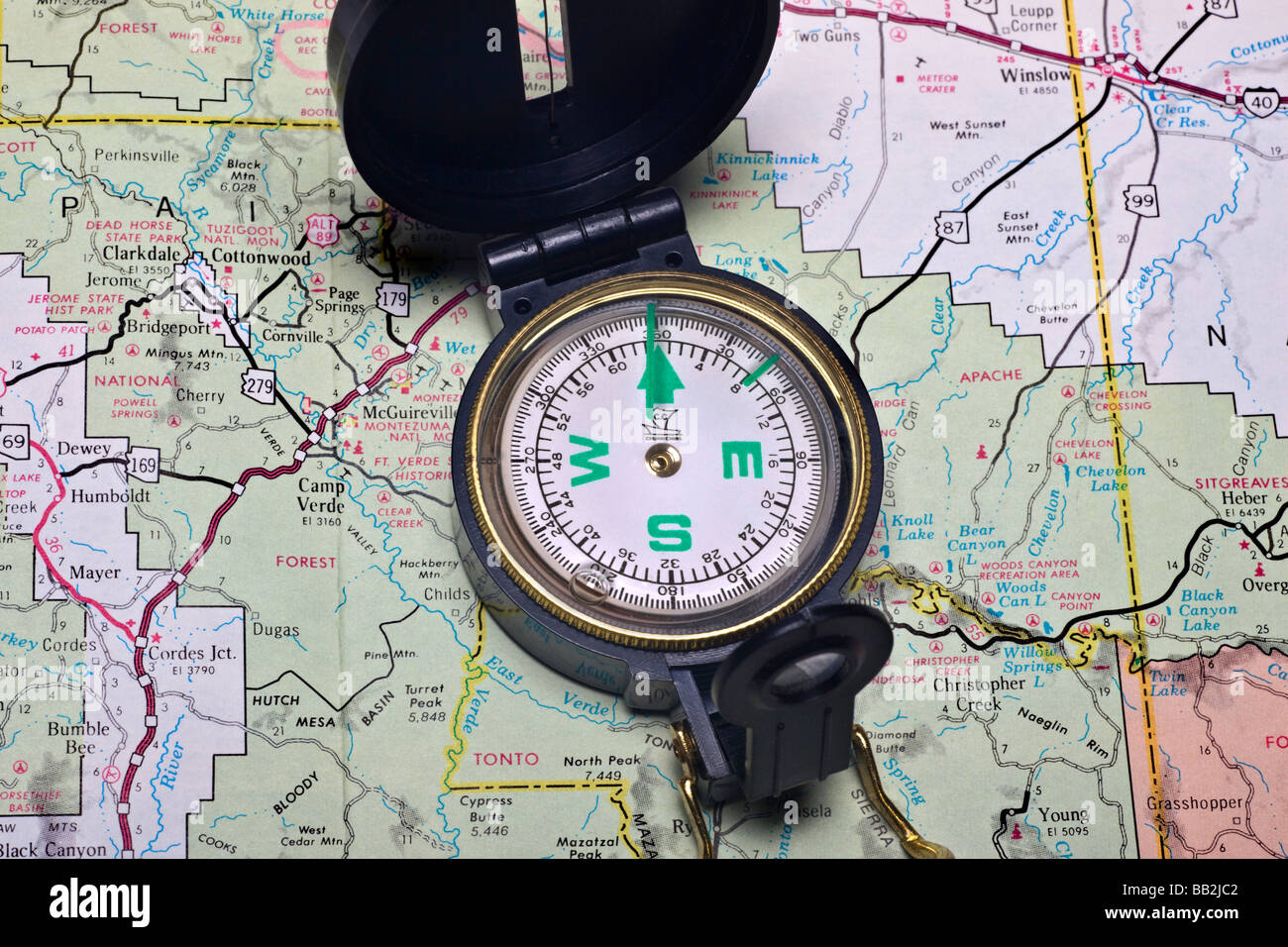 Map Compass - Stock Image