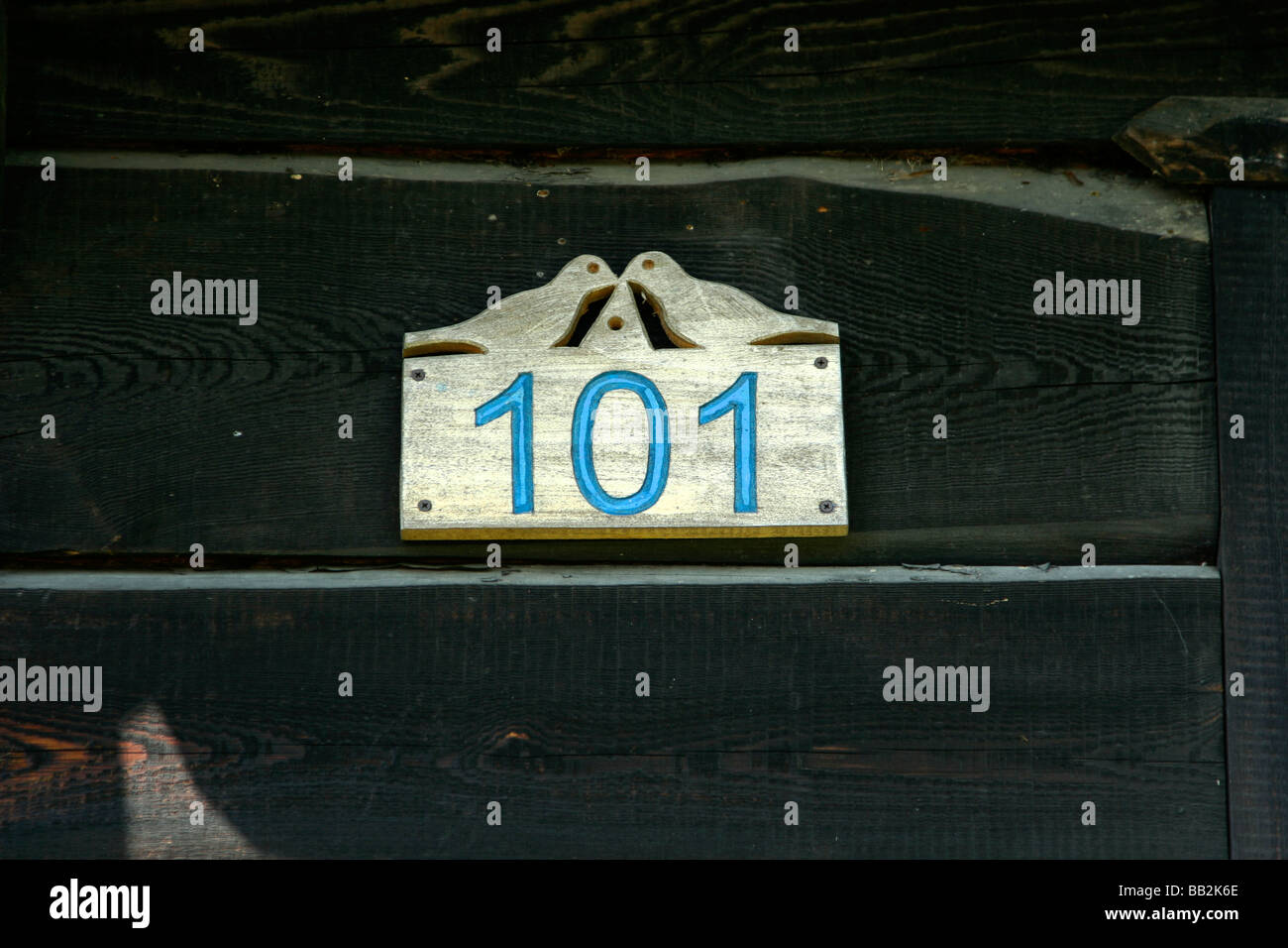 101 house number in Soce village, Poland - Stock Image