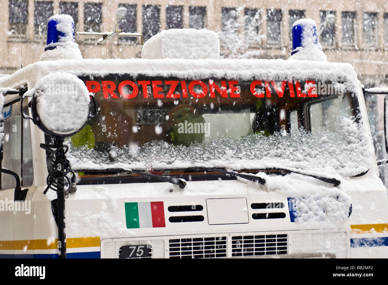 Vehicle of Civil Defense Busto Arsizio Province of Varese Italy - Stock Image