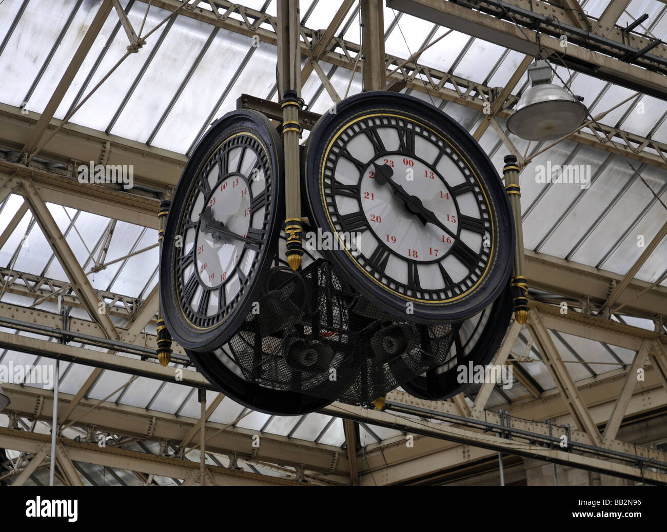 Waterloo Station Clock - Stock Image
