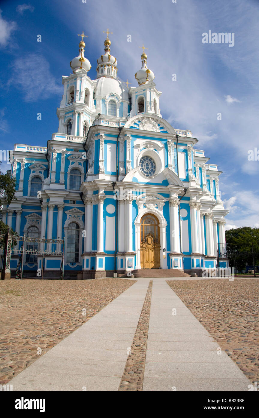 Russia, St. Petersburg, Nevsky Prospect, Smolny Convent. (RF) - Stock Image