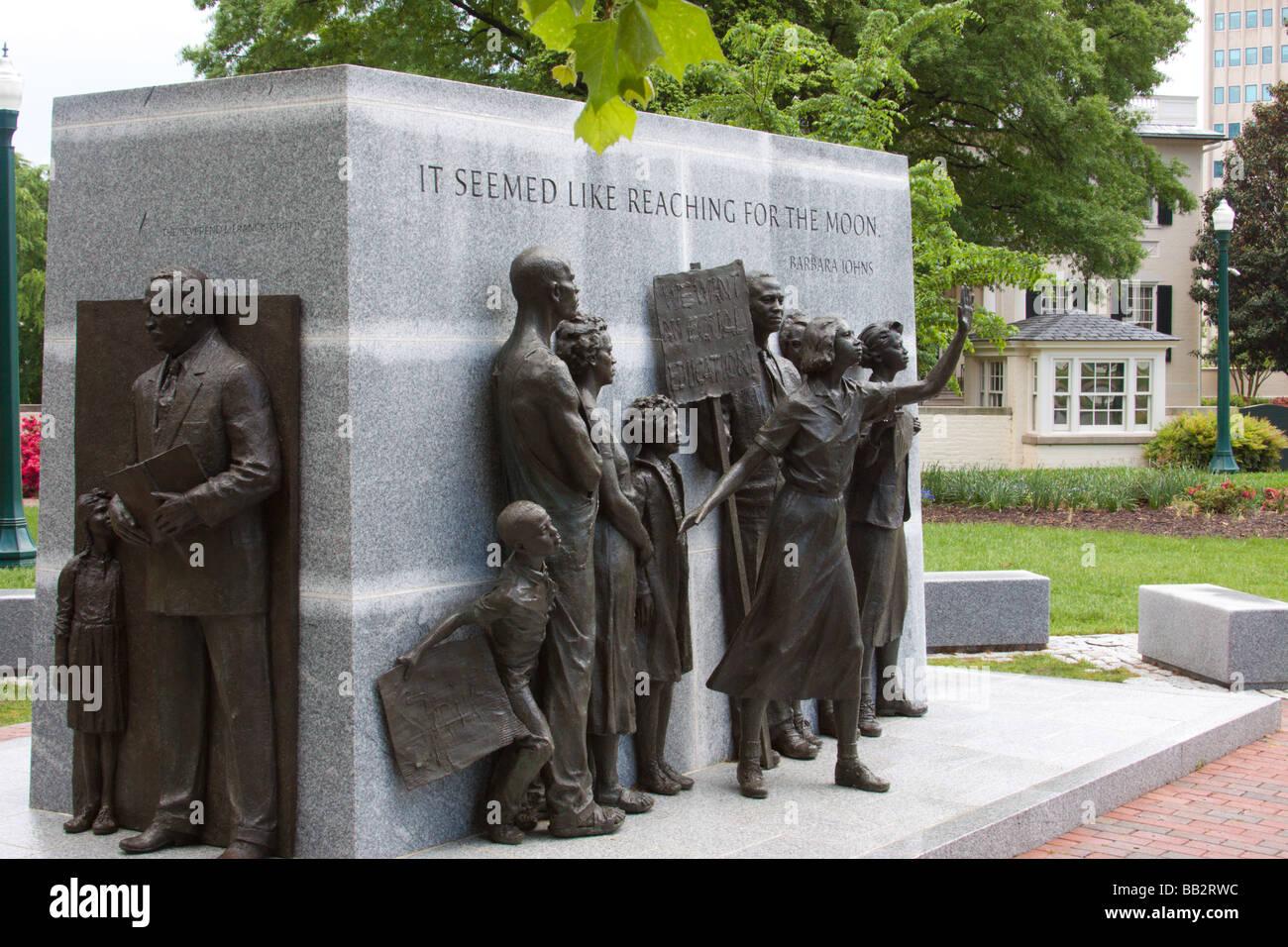 Virginia Civil Rights Memorial, capitol grounds, Richmond, Virginia USA - Stock Image