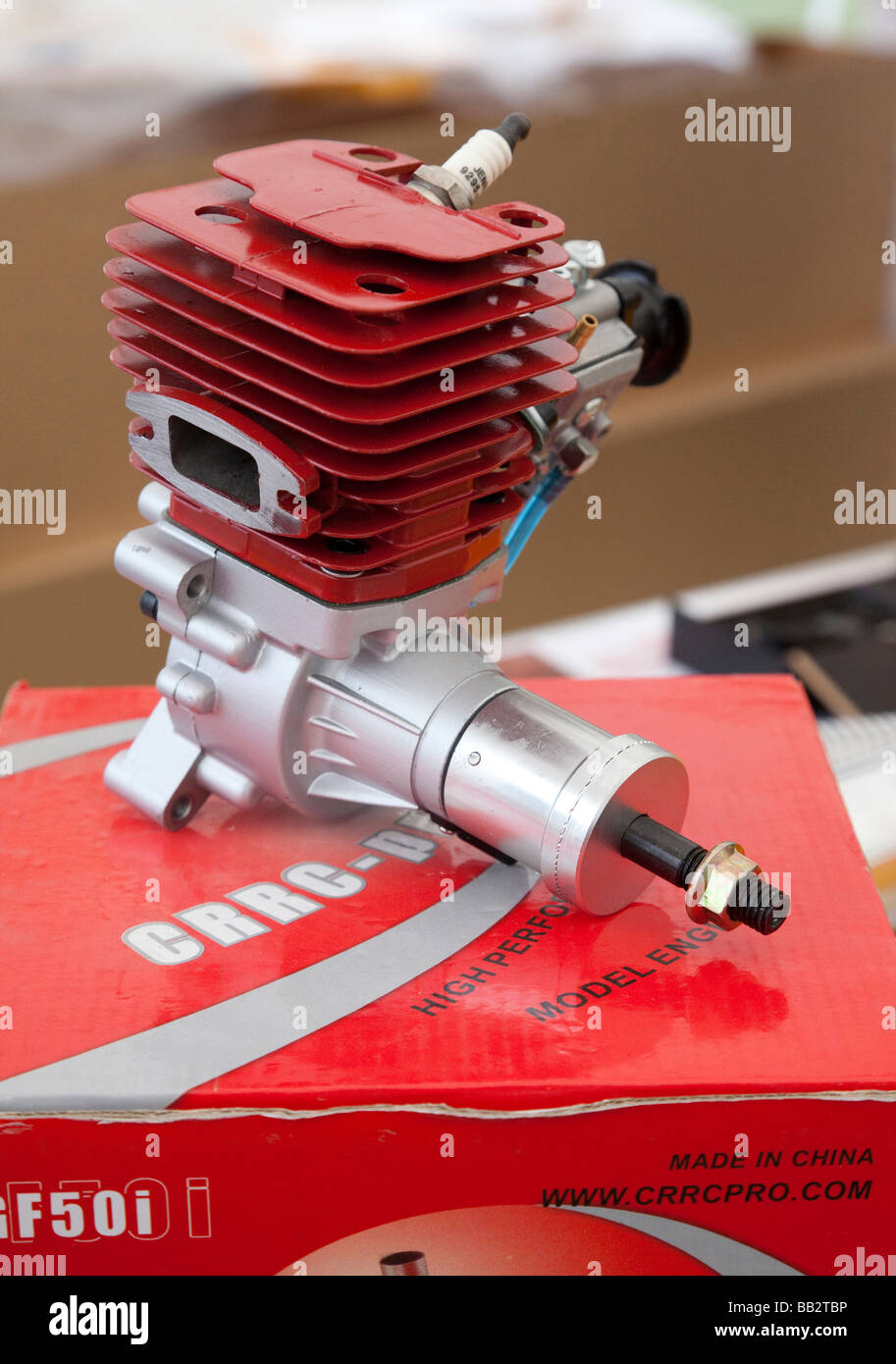two stroke petrol / gasoline engine - Stock Image