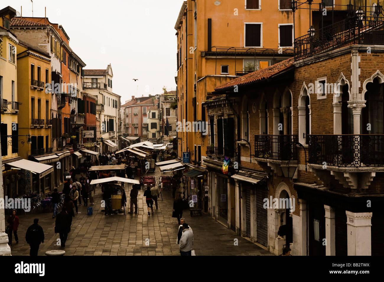 Venice street scene; Italy Stock Photo - Alamy