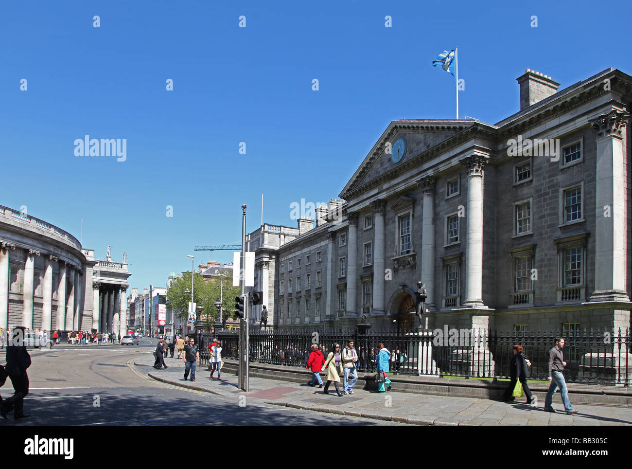 Trinity College College Green Dublin  Bank of Ireland - Stock Image