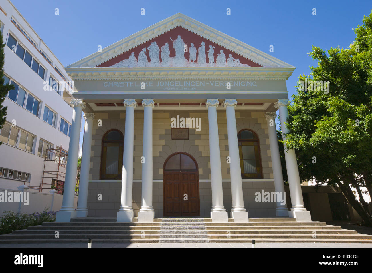 Christian Youth Association building, Stellenbosch, 'South Africa' - Stock Image