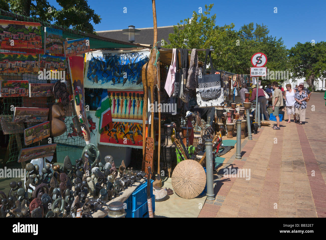 African Craft Market, Stellenbosch, 'South Africa' - Stock Image