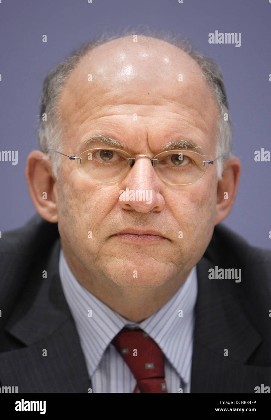 Peter SCHAAR the Federal Commissioner for Data Protection and Freedom of Information - Stock Image