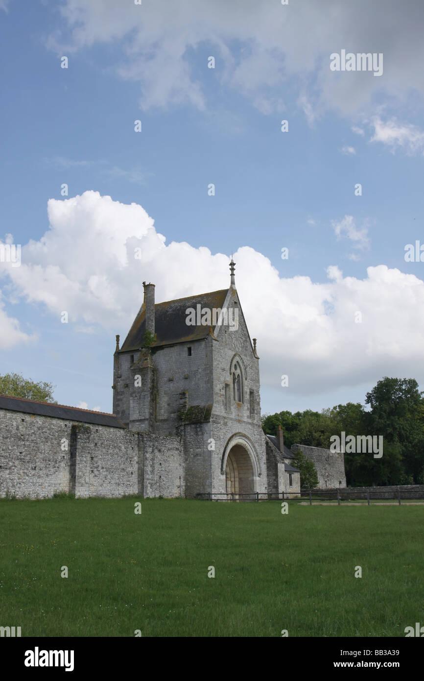 Exterior Of Grange De Meslay Near Parcay Meslay France May 2009